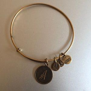 """Authentic Alex and Ani """"A"""" bracelet"""